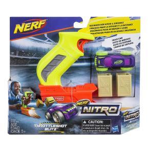 Nerf Nitro ThrottleShot Blitz (Yellow blaster) Αυτοκινητάκι με Εκτοξευτή (C0780)