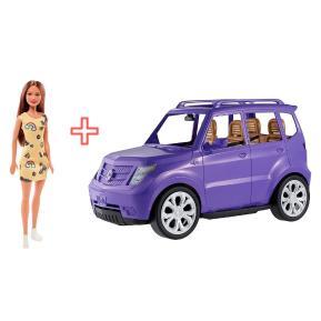 Barbie SUV & Barbie Μοντέρνα Φορέματα (combo pack)