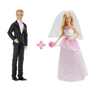 Ken Πρίγκιπας Γαμπρός & Barbie Νύφη (combo pack)