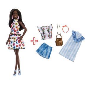 Barbie Κούκλα Fashionistas & Σετ Ρούχα και αξεσουάρ (combo pack)