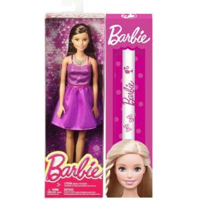Λαμπάδα Barbie Μοντέρνα Φορέματα Μωβ με Αξεσουάρ! (T7580)