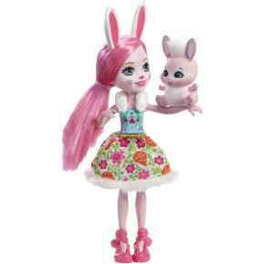 Enchantimals Κούκλα & Ζωάκι Φιλαράκι Bree Bunny