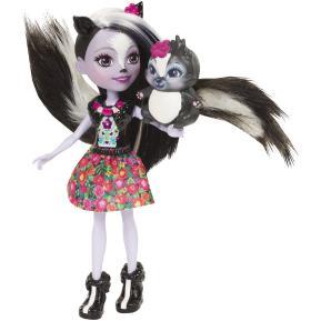 Enchantimals Κούκλα & Ζωάκι Φιλαράκι Sage Skunk & Caper
