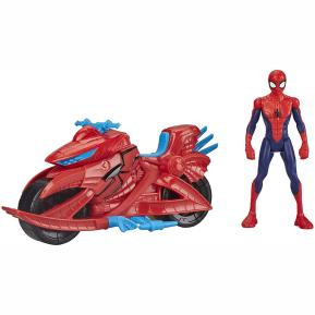 Hasbro Marvel Spider-Man Figure with Cycle 15cm E3368
