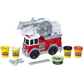 Hasbro Play-Doh Wheels Πυροσβεστικό Όχημα Με 5 Μη-Τοξικά Χρώματα E6103