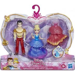 Hasbro Disney Princess Rainbow Fashion Cinderella Και Prince Charming Μικρές Κούκλες