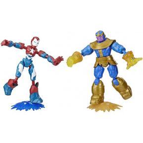 Hasbro Marvel Avengers Bend And Flex Iron Patriot Vs. Thanos Toy Dualpack (E9197)