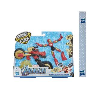 Λαμπάδα Hasbro Marvel Avengers Bend And Flex, Flex Rider Iron Man Και Μοτοσικλέτα 2 Σε 1 F0244