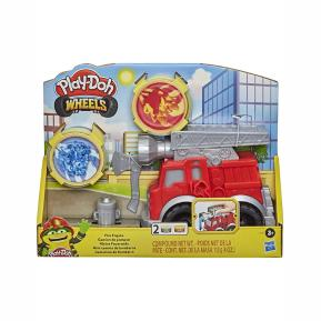 Hasbro Play-Doh Wheels Fire Engine Playset With 2 Non-Toxic Modeling Compound Cans F0649