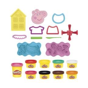 Hasbro Play-Doh Peppa Pig Σετ Με 9 Δοχεία Και 11 Αξεσουάρ F1497