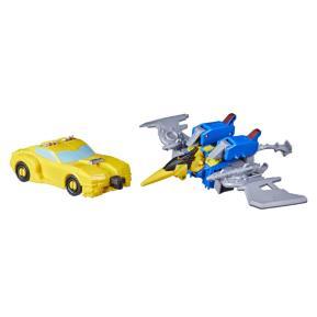 Hasbro Transformers Bumblebee Cyberverse Adventures Bumbleswoop - Bumblebee & Dinobot Swoop 13cm