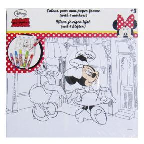 Καμβάς με 6 Μαρκαδοράκια 20X20 Minnie Mouse