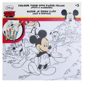 Καμβάς με 6 Μαρκαδοράκια 20X20 Mickey Mouse
