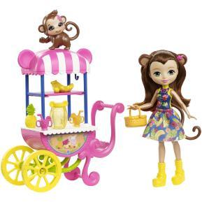 Enchantimals Κούκλα & Ζωάκι Φιλαράκι Με Όχημα Fruit Cart