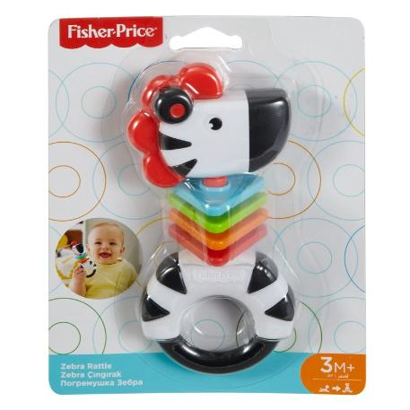 Fisher Price Ζώακι Ζέβρα κουδουνίστρα (FWH54)-1