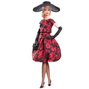 Barbie Συλλεκτική - Υψηλή Ραπτική - Κοκτέιλ Φόρεμα με Τριαντάφυλλα (Gold Label)