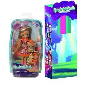 Λαμπάδα Enchantimals - Κούκλα & Ζωάκι Φιλαράκι - Νέοι Φίλοι Cherish Cheetah & Quick-Quick