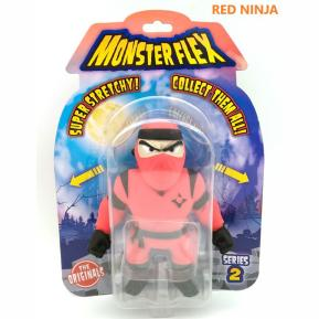 Just Toys Monsterflex Super Stretchy Ελαστική Φιγούρα Series 2 Red Ninja