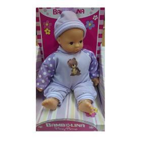 Bambolina Playtime Μωρό 25 cm με Μωβ φορμάκι