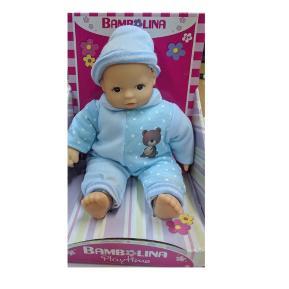 Bambolina Playtime Μωρό 25cm με Γαλάζιο Φορμάκι