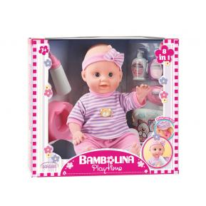 Bambolina Playtime Πιπι Ποπο Σετ Με Αξεσουάρ 36εκ