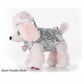 Doggie Star Λούτρινο Τσαντάκι Giant Poodle Silver (2401)
