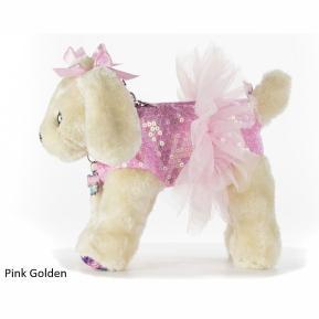 Doggie Star Λούτρινο Τσαντάκι Pink Golden (2401)