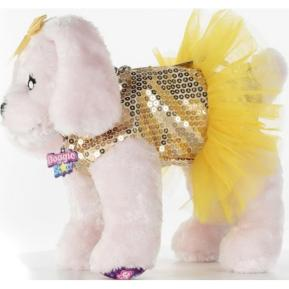 Just Toys Doggie Star Λούτρινο Τσαντάκι Pink Labrator Gold 2401
