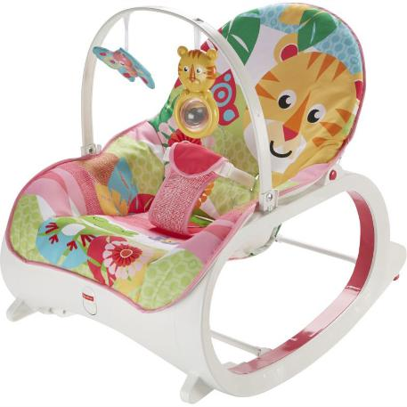 Fisher Price Infant To Toddler -  Ριλάξ/ Κούνια Τιγράκι (FMN40)-0