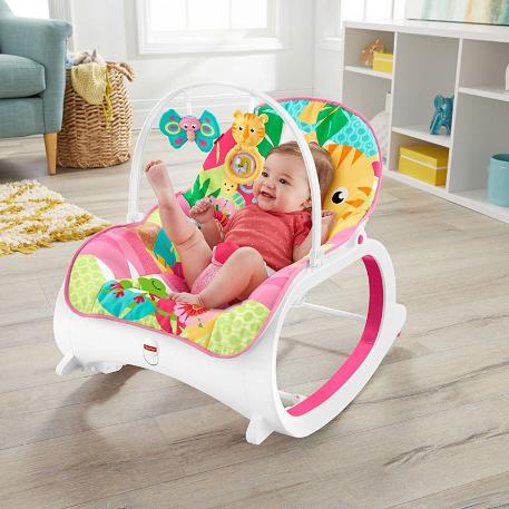 Fisher Price Infant To Toddler -  Ριλάξ/ Κούνια Τιγράκι (FMN40)-1