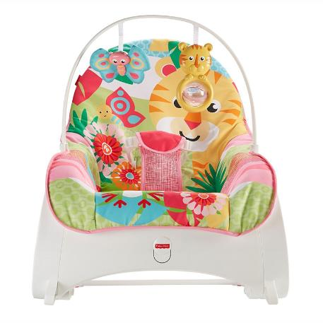 Fisher Price Infant To Toddler -  Ριλάξ/ Κούνια Τιγράκι (FMN40)-2