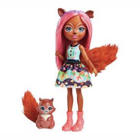 Enchantimals - Κούκλα & Ζωάκι Φιλαράκι - Νέοι Φίλοι Sancha Squirrel & Stumper