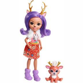Enchantimals - Κούκλα και Ζωάκι Φιλαράκι Danessa Deer and Sprint (DVH87)
