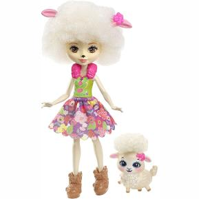 Mattel Enchantimals - Κούκλα & Ζωάκι Φιλαράκι - Lorna Lamb & Flag (FNH22)