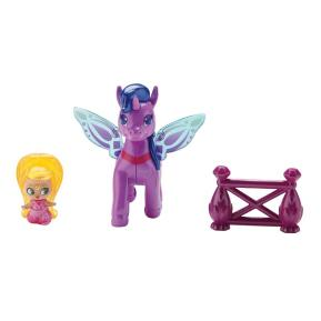 Fisher Price Shimmer & Shine -  Μίνι Κουκλίτσες με Μονοκεράκι μωβ Leah and Zahracorn