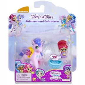 Fisher Price Shimmer & Shine - Μίνι Κουκλίτσες με Μονοκεράκι λιλά Shimmer and Zahracorn