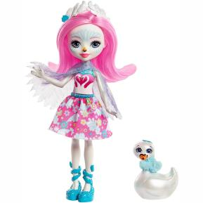 Enchantimals - Κούκλα & Ζωάκι Φιλαράκι - Νέοι Φίλοι Saffi Swan & Poise (FNH22)
