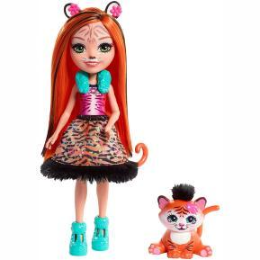 Enchantimals - Κούκλα & Ζωάκι Φιλαράκι - Νέοι Φίλοι Tanzie Tiger & Tuft (FNH22)