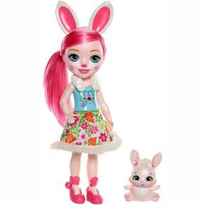 Mattel Enchantimals - Μεγάλη Κούκλα 31cm Bree Bunny & Twist (FRH51)