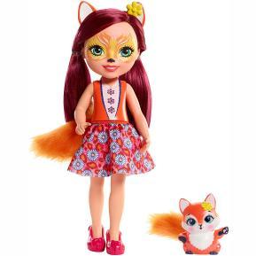 Mattel Enchantimals - Μεγάλη Κούκλα 31cm Felicity Fox & Flick (FRH51)