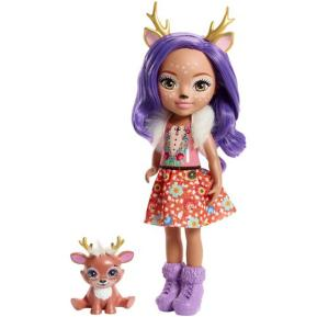 Mattel Enchantimals - Μεγάλη Κούκλα 31cm Danessa Deer & Sprint
