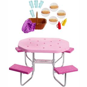 Barbie Έπιπλα Εξωτερικού Χώρου - Τραπέζι για Picnic (FXG37)
