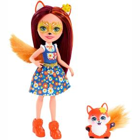 Enchantimals Κούκλα & Ζωάκι Φιλαράκι Felicity Fox & Flick