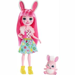 Enchantimals Κούκλα & Ζωάκι Φιλαράκι Bree Bunny & Twist