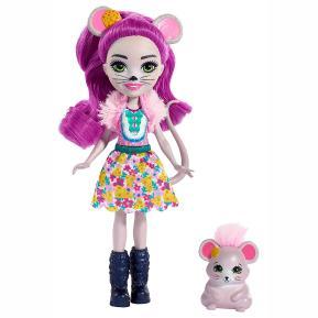 Enchantimals - Κούκλα & Ζωάκι Φιλαράκι - Νέοι Φίλοι Mayla Mouse & Fondue (FNH22)