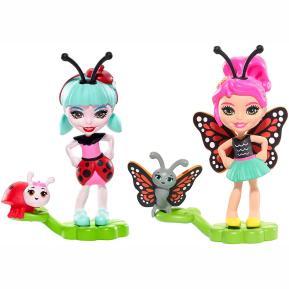 Enchantimals Ζουζουνάκια Φιλαράκια - Ladelia Ladybug & Baxi Butterfly (FMX86)
