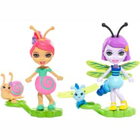 Enchantimals Ζουζουνάκια Φιλαράκια - Saxon Snail & Dara Dragonfly (FXM86)