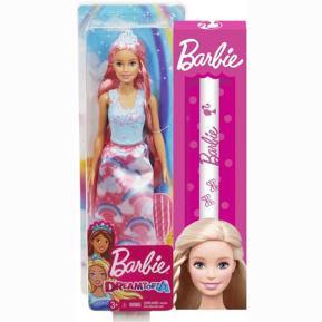 Λαμπάδα Barbie Πριγκίπισσα Μακριά Μαλλιά ροζ (FXR94)