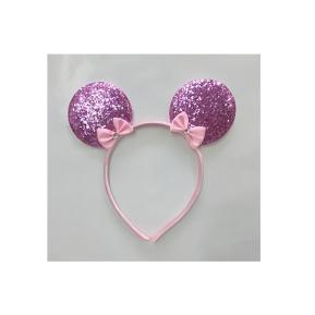 Αποκριάτικη Στέκα Ροζ Minnie Με Glitter