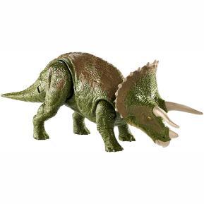 Jurassic World Deluxe Φιγούρα Δεινόσαυρου με Σπαστά Μέλη - Triceratops (GDT38)